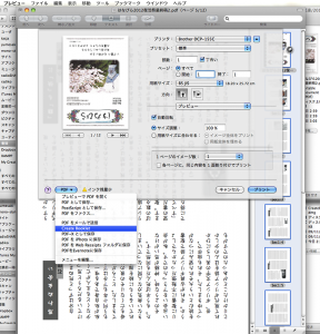 Create Booklet実行画像