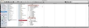 スクリーンショット ~/Library/Dictionaries の中の「CoreDataUbiquitySupport」と「ユーザ辞書」